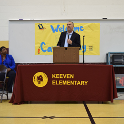 Congressman Clay Visits Keeven Elementary for Black History Month