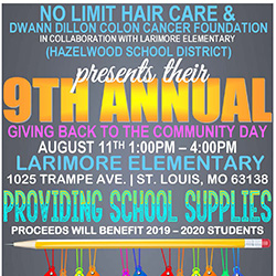Giving Back to the Community Day is Aug. 11 at Larimore Elementary