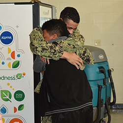 Sailor Surprises Family Members at Hazelwood Schools