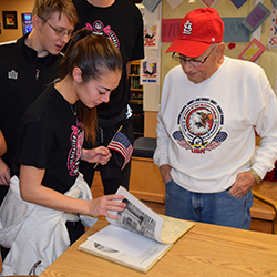 West High School Students Spend Time with Local Veterans
